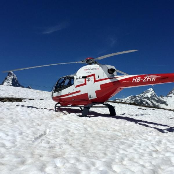Flight to the Klein Matterhorn or Unterrothorn ski region