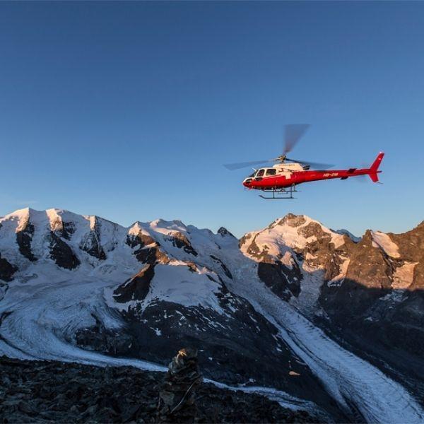 Volo panoramico ghiacciai del Bernina