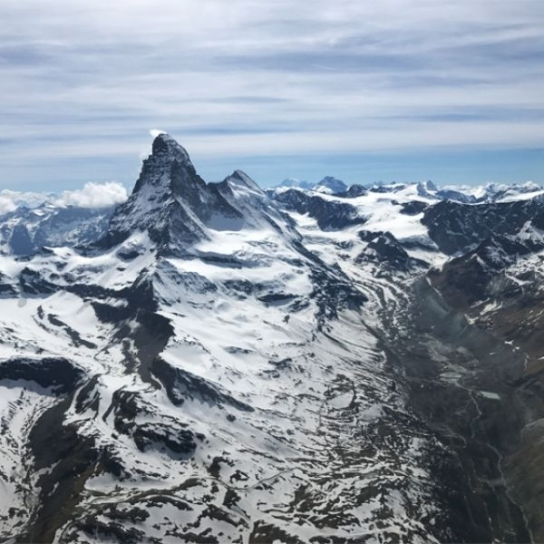 Matterhorn, Walliser- und Berner Alpenflug