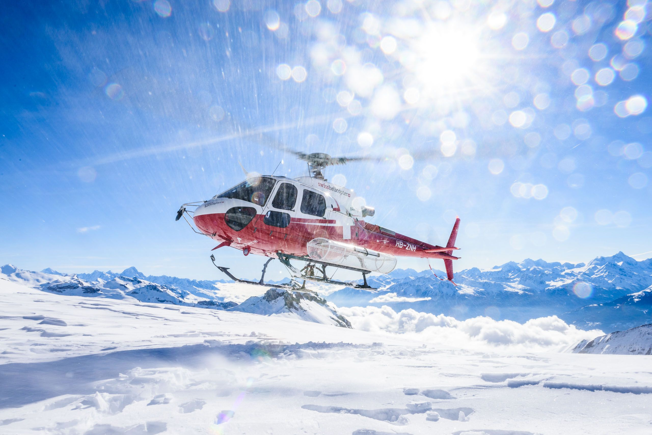 Helikopterflug-auf-Jungfraujoch