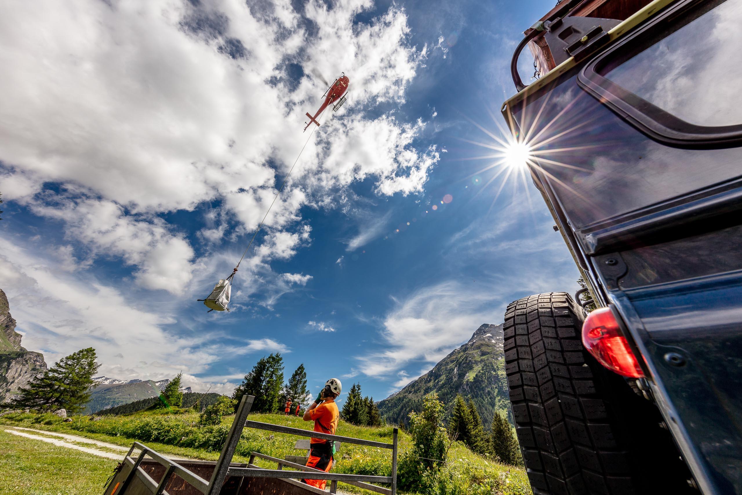 Transportflug-Helikopter