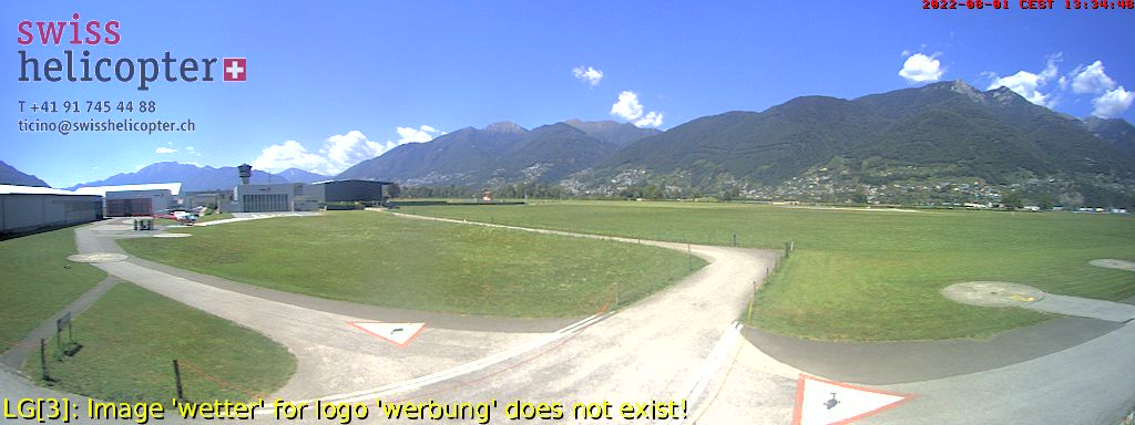webcam Gordola Swisshelicopter